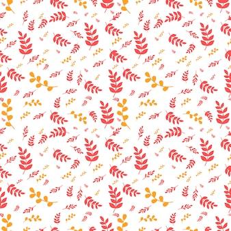 Herbstmuster mit den roten und orange blättern