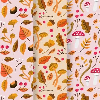 Herbstmuster-themenkonzept