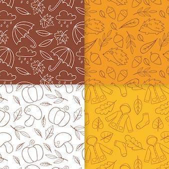 Herbstmusterkollektion zeichnen