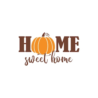Herbstphrasen mit süßen und gemütlichen designelementen. herbststimmung grußkarte poster vorlage