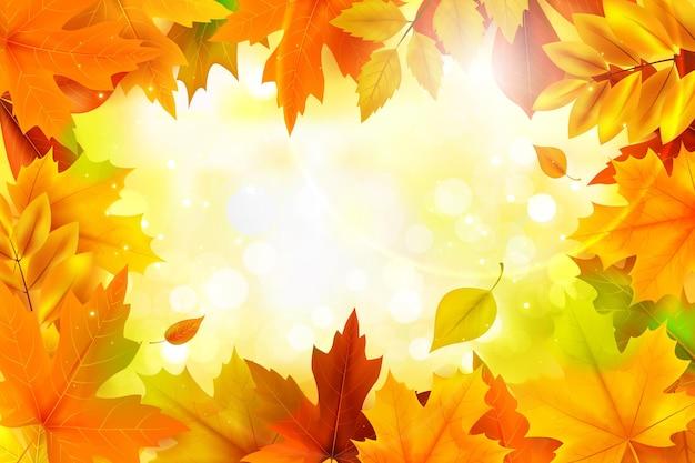 Herbstrealistischer hintergrund