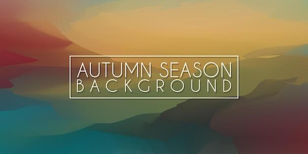 Herbstsaison farbe ölgemälde unschärfe künstlerische textur hintergrund herbstsaison acryl