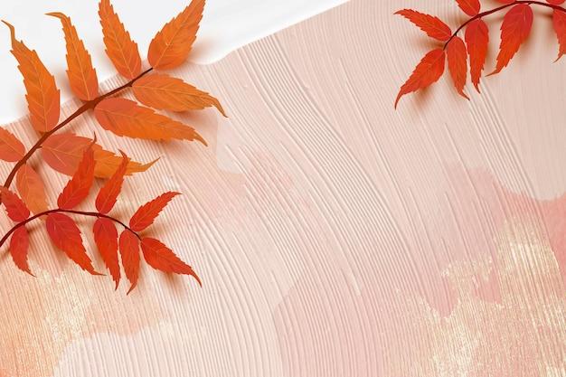 Herbstsaison hintergrundvektor mit sumachblättern