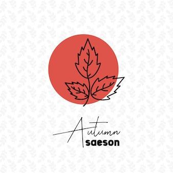 Herbstsaison mit musterhintergrund-designvektor