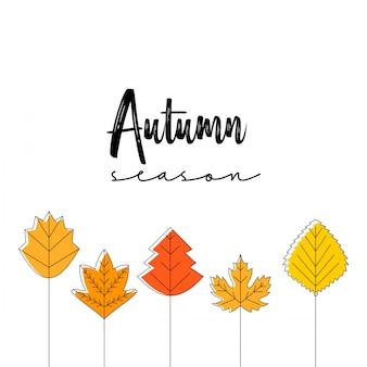 Herbstsaison typografie