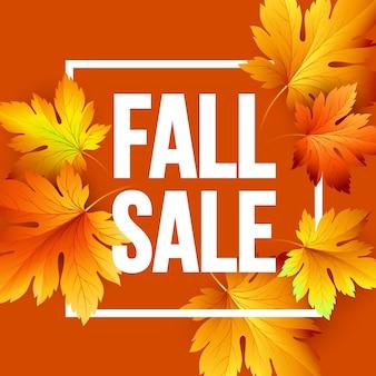 Herbstsaisonales banner-design. fal-blatt. vektorillustration eps10