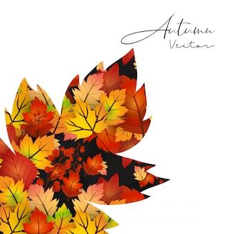 Herbstsaisondesign mit hellem hintergrundvektor
