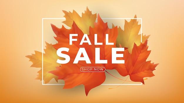 Herbstsaisonverkaufsbannerdesign herbstverkaufsbanner