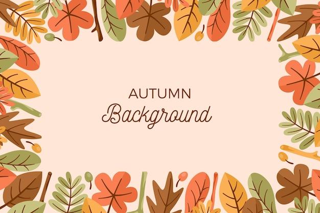 Herbsttapete mit blättern