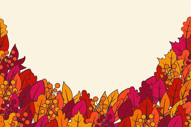 Herbsttapetenentwurf