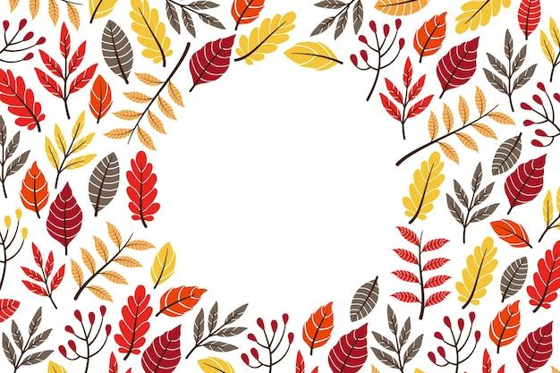 Herbsttapetenkonzept