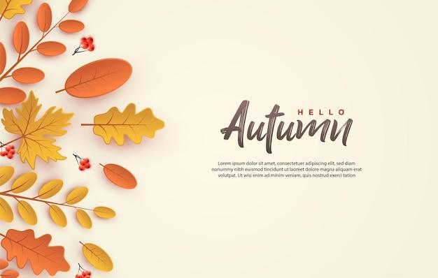 Herbstthema einfacher scherenschnitt