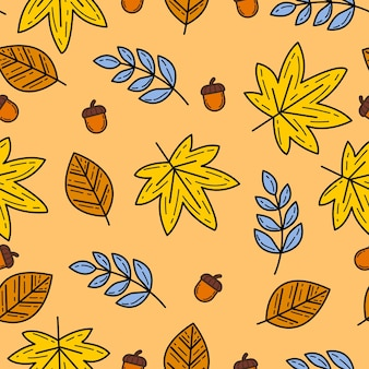 Herbstthema nahtlose muster hintergrund