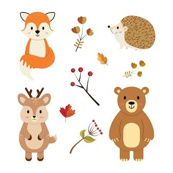 Herbsttiere gesetzt
