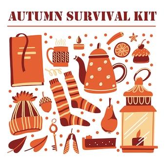 Herbstüberlebensausrüstung eingestellt