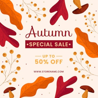 Herbstverkauf design