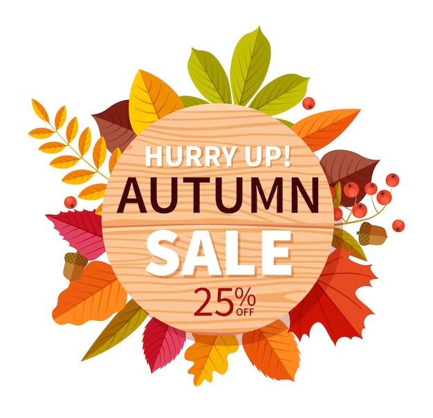 Herbstverkauf hintergrund