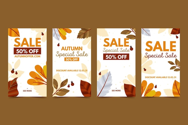 Herbstverkauf instagram geschichten