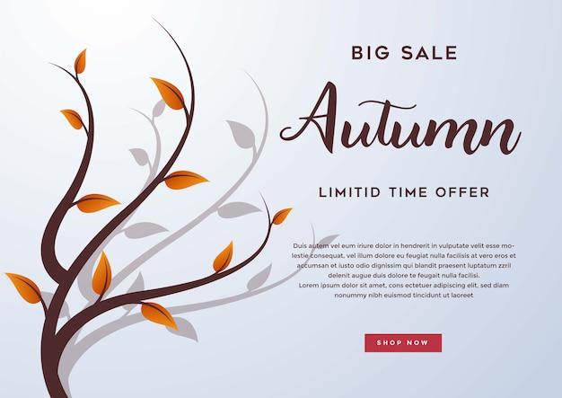 Herbstverkauf mit blättern