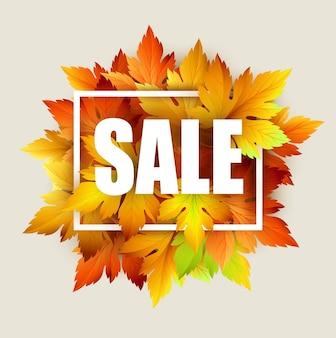 Herbstverkauf mit herbstlaub