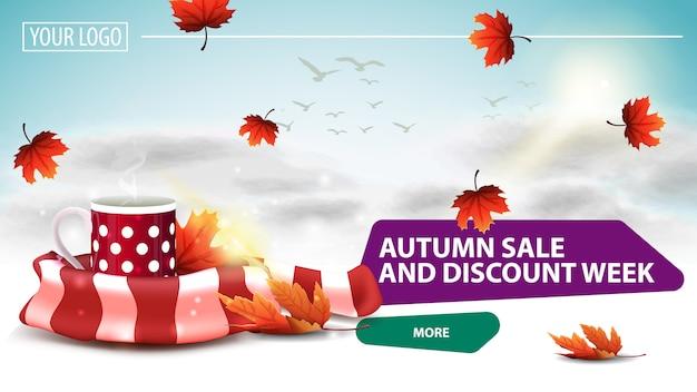 Herbstverkauf und rabattwoche,