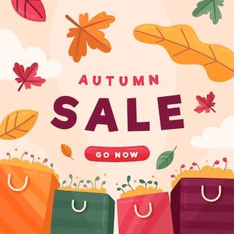 Herbstverkaufsbanner