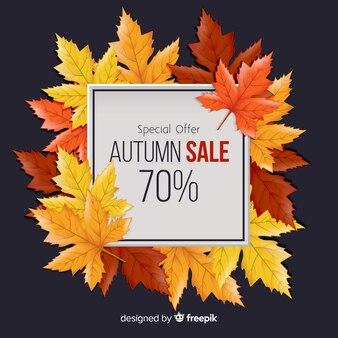 Herbstverkaufshintergrund in der realistischen art