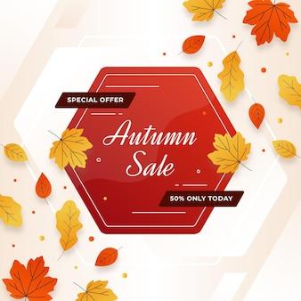 Herbstverkaufskonzept
