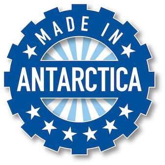 Hergestellt im farbstempel der antarktis-flagge. vektor-illustration