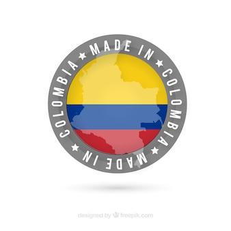 Hergestellt in kolumbien etikett