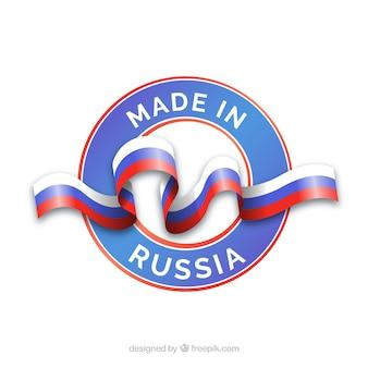 Hergestellt in russland label