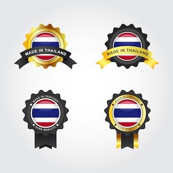 Hergestellt in thailand mit emblemabzeichen