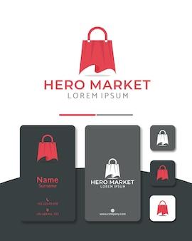 Hero market logo design taschenumhang