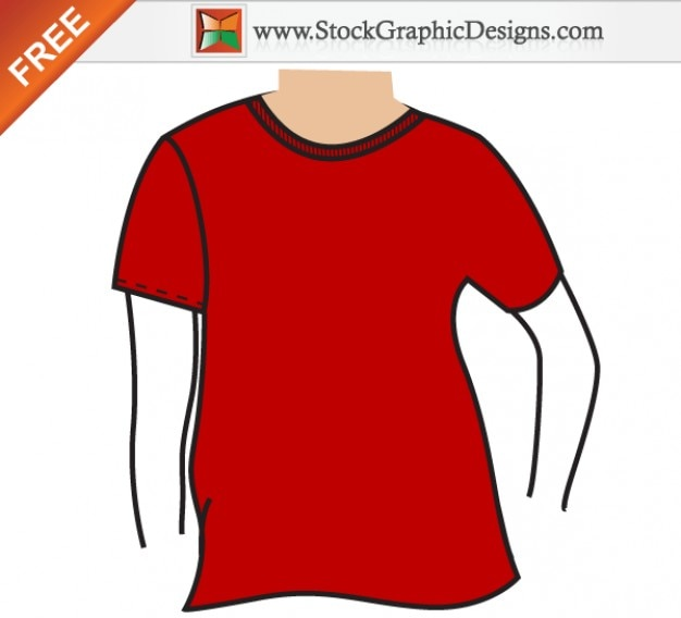Herren basic t-shirt mockup template vector