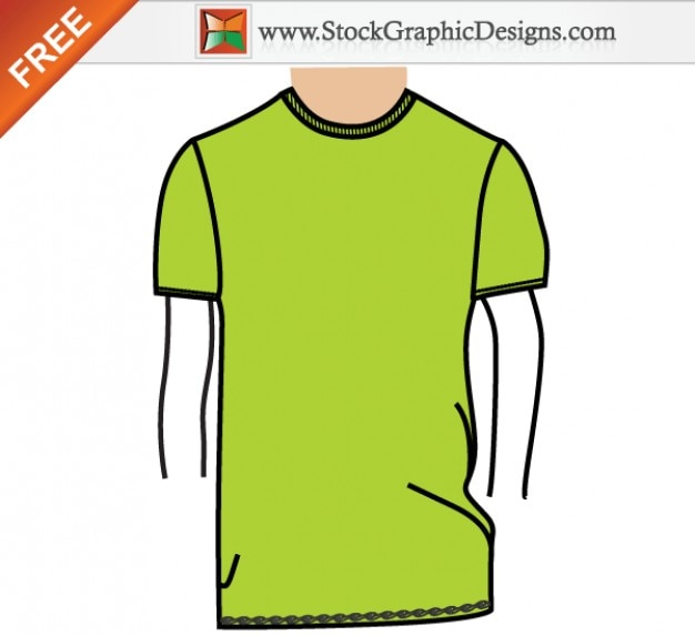 Herren basic t-shirt-vorlage free vector illustration