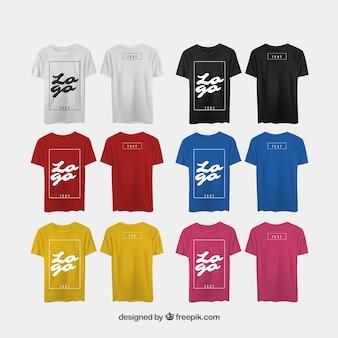 Herren T-Shirt in verschiedenen Ansichten mit realistischem Stil