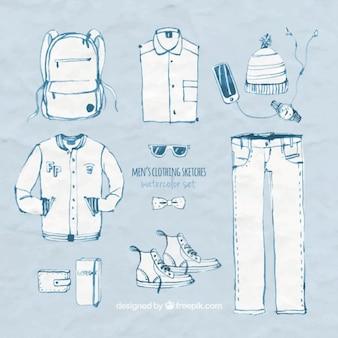 Herrenbekleidung skizzen