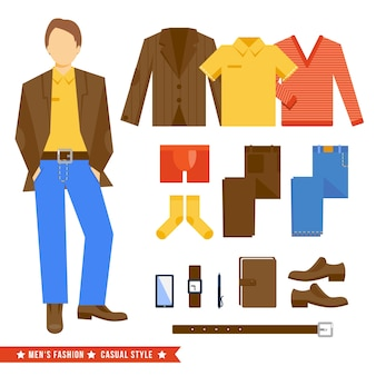 Herrenkleidung kollektion