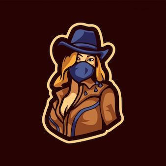 Herrliches cowgirl-logo