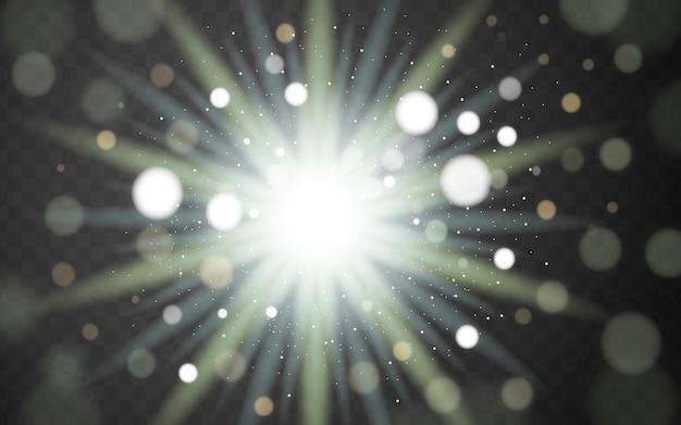 Herrliches glimmlicht, dekorative elemente isoliert