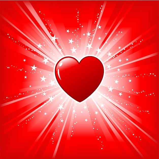Herz auf starburst
