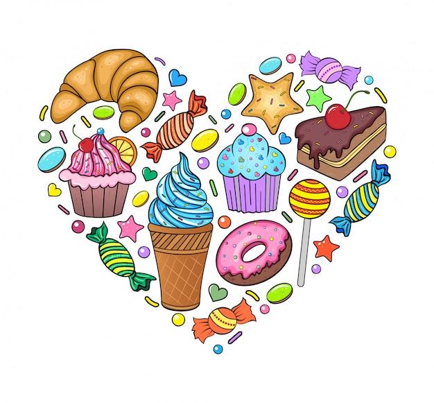 Herz aus süßigkeiten