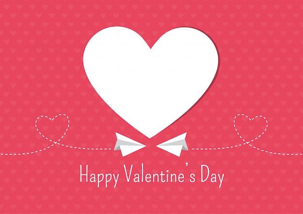 Herz blüht valentinstag