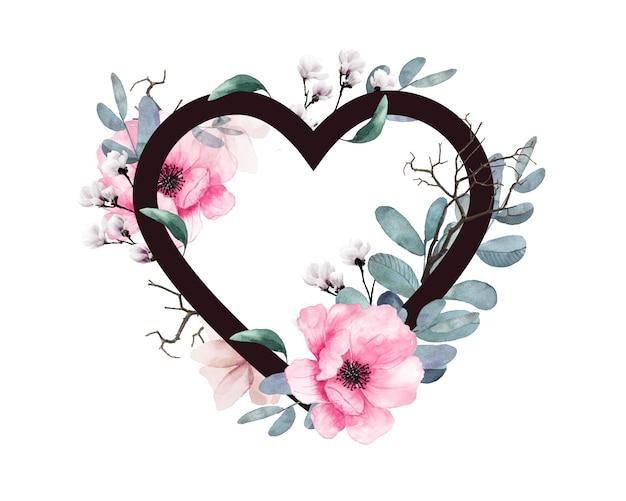 Herz der blumen schönes liebesdesign.