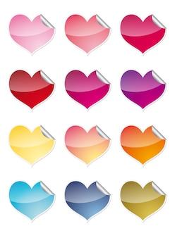 Herz-etiketten