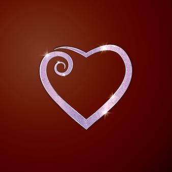 Herz für grußkarte.