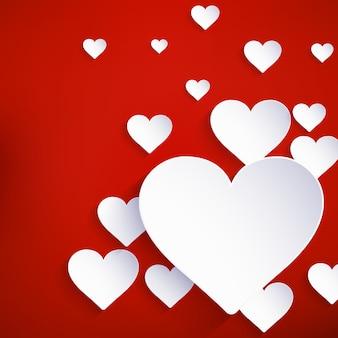 Herz für valentinstag hintergrund.