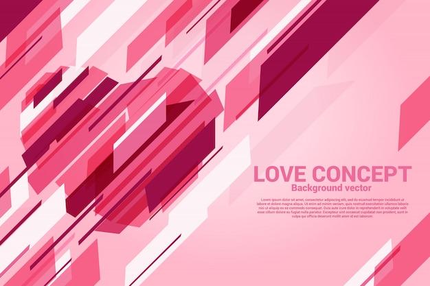Herz geformt mit grafischer schnittlinie luxusart.