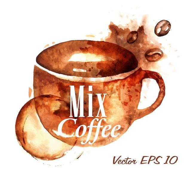 Herz gezeichnet gießen mix kaffee