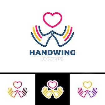 Herz in der hand symbol